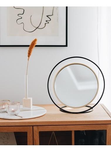 Kitbox Design Hollow Masa Aynası - Büyük Siyah